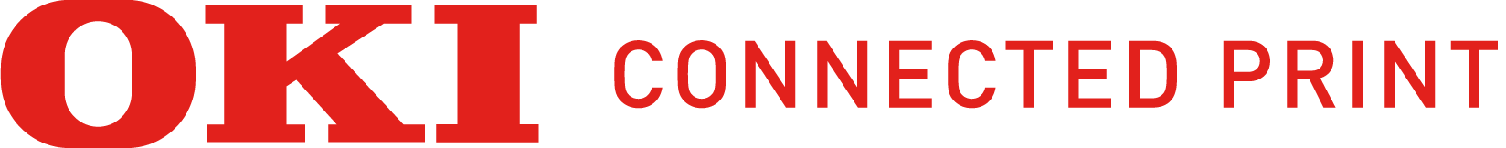 Horizontal OKI Connected Print logo
